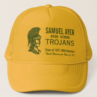 Green & Gold Class of '77 40th Reunion Trojans Trucker Hat