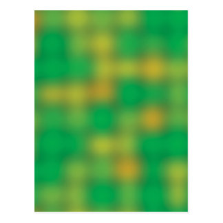 Green & gold color blur postcards