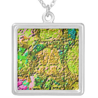 GREEN GOLD Fashio Trends by NAVIN JOSHI Square Pendant Necklace