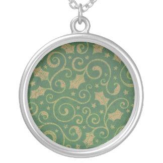Green Gold Leaf Necklace