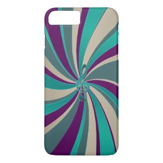 Green Gold Music Clef Swirl iPhone 8 Plus/7 Plus Case