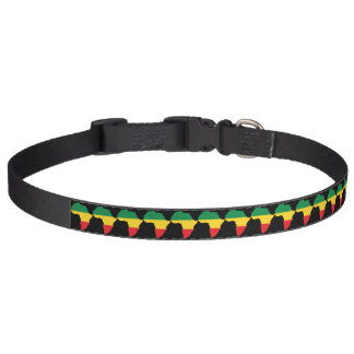 Green, Gold & Red Africa Flag Dog Collar