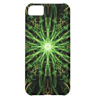 Green & Gold Silk Starburst iPhone 5C Covers
