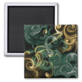 green,golden, red and black shiny festive colored square magnet