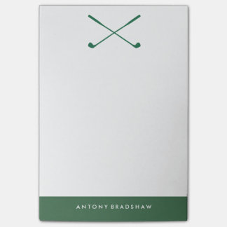 Green Golf Clubs Personalized Post-it® Notes