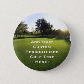 Green Golf Course at Dawn 6 Cm Round Badge