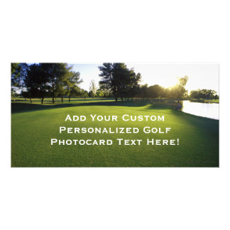 Green Golf Course at Dawn Card