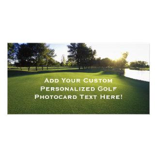 Green Golf Course at Dawn Photo Greeting Card