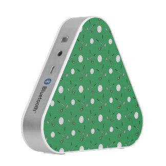 Green golf pattern bluetooth speaker