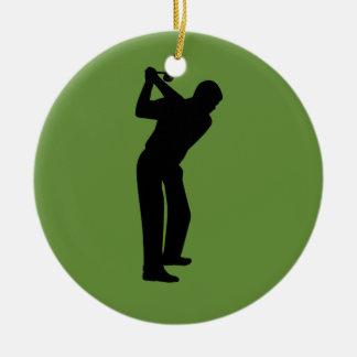 Green Golfer Custom Golfing Ceramic Ornament