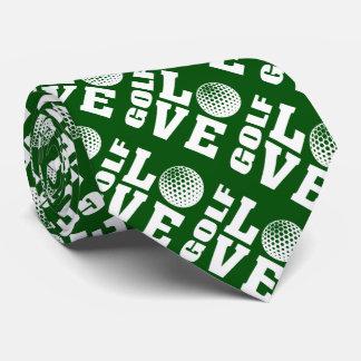 Green Golfer's Love Tie