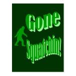 Green gone squatchin slogan text