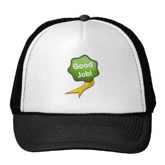 Green Good Job Ribbon Trucker Hats