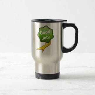 Green Good Job Ribbon Mug