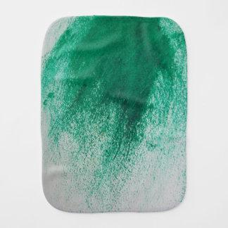Green goop burp baby burp cloth