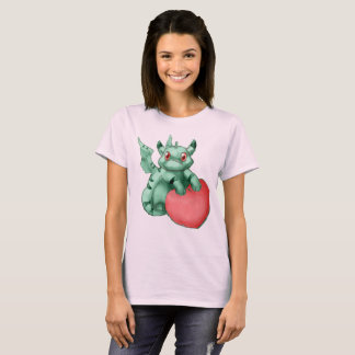 """Green """"Got Your Heart"""" Munchkin Dragon Shirt"""