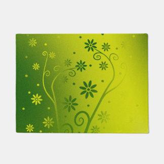 Green Gradient Blooming Flowers Doormat
