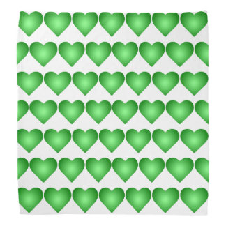 Green Gradient Hearts Bandana