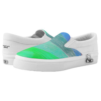 Green Gradient Slip On Shoes