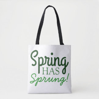 Green Gradient Tote Bag | Spring Has Sprung