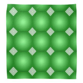 Green Gradient With White Stripes Bandana
