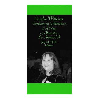 Green Graduation Personalised Photo Card