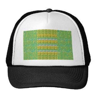 Green Graffiti Confetti n Crystal Bead Stone Patch Cap