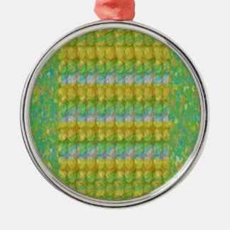 Green Graffiti Confetti n Crystal Bead Stone Patch Ornament