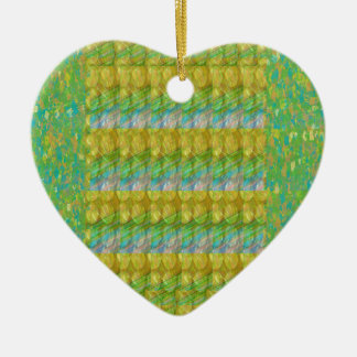 Green Graffiti Confetti n Crystal Bead Stone Patch Christmas Tree Ornaments