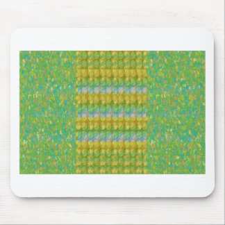 Green Graffiti Confetti n Crystal Bead Stone Patch Mousepad