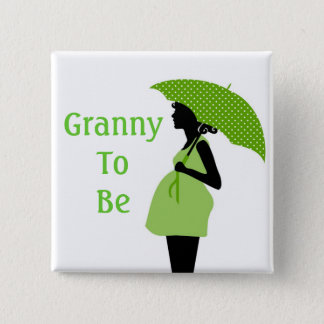 Green Grandmother Button