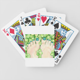 Green Grapes and Pedicure Bicycle Playing Cards