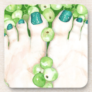 Green Grapes and Pedicure Coaster