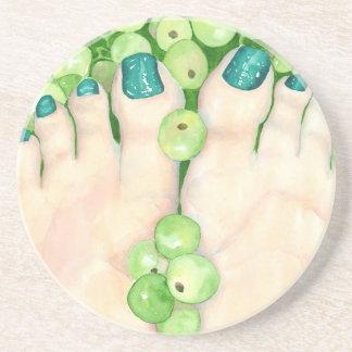 Green Grapes and Pedicure Coaster