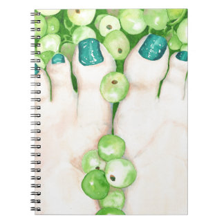 Green Grapes and Pedicure Notebook