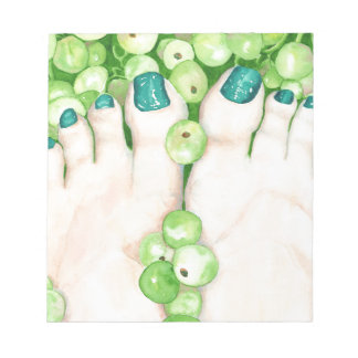 Green Grapes and Pedicure Notepads