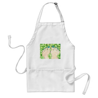 Green Grapes and Pedicure Standard Apron