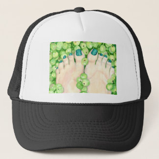 Green Grapes and Pedicure Trucker Hat