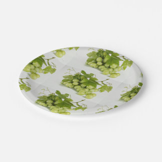 "Green Grapes Custom 7 "" Paper Plates"