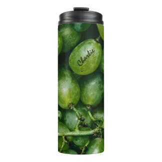 Green Grapes custom name tumbler Thermal Tumbler