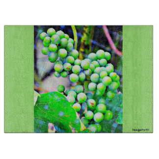 Green Grapes Cutting Board