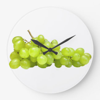 """Green grapes"" design wall clocks"