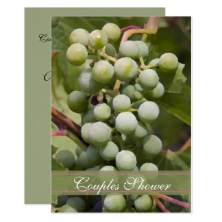 Green Grapes Vineyard Couples Shower Wine Tasting Card