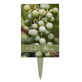 Green Grapes Vineyard Wedding Cake Picks