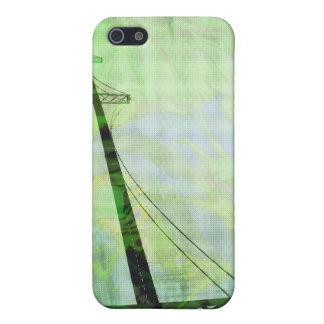 Green Graphic Storm Bridge iPhone 5 Covers