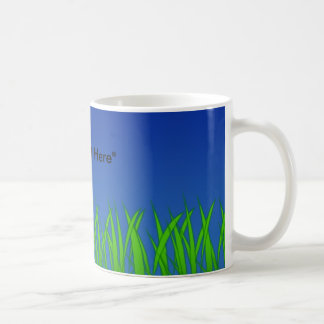 Green Grass Against Clear Blue Sky Coffee Mugs
