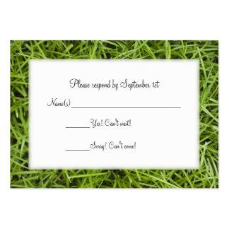 Green Grass Backyard Wedding RSVP Pack Of Chubby Business Cards