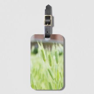 Green grass bag tag