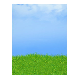 Green Grass & Blue Sky Background 21.5 Cm X 28 Cm Flyer