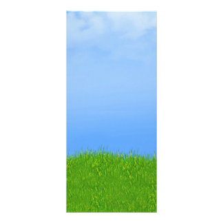 Green Grass & Blue Sky Background Personalised Rack Card